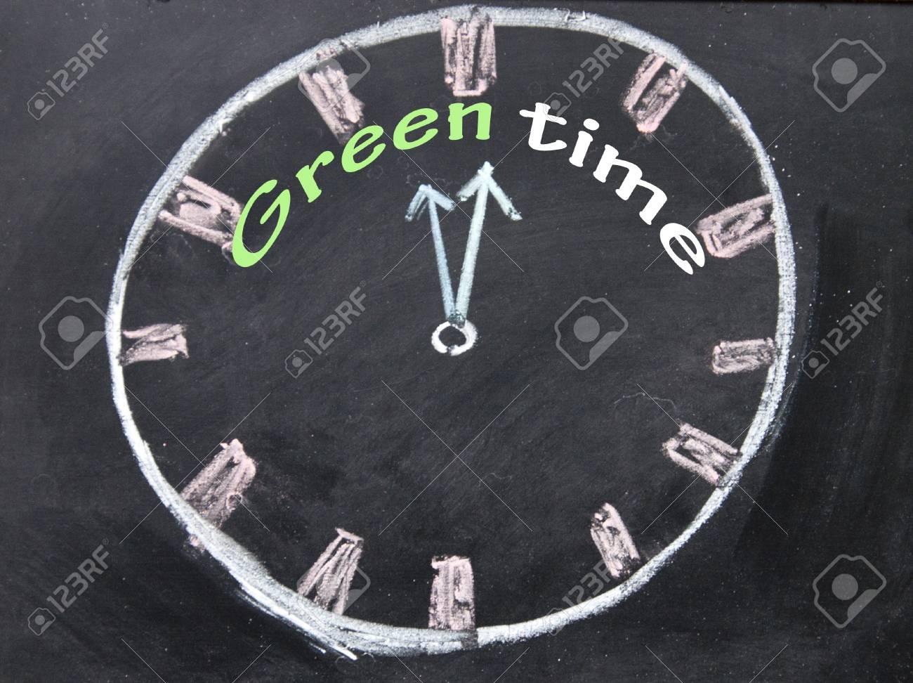 green time clock Stock Photo - 19142070