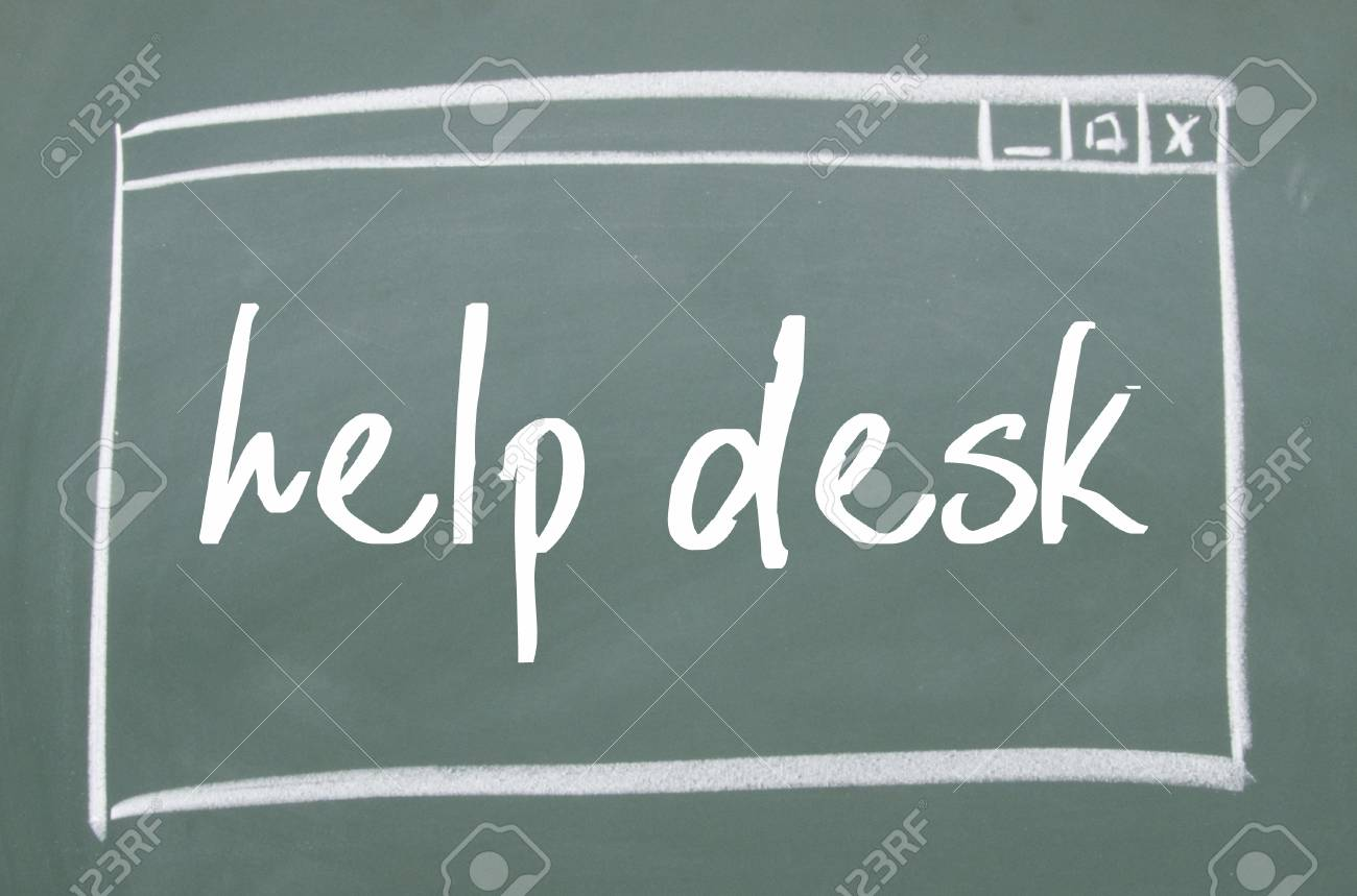 help desk sign on blackboard stock photo, picture and royalty free