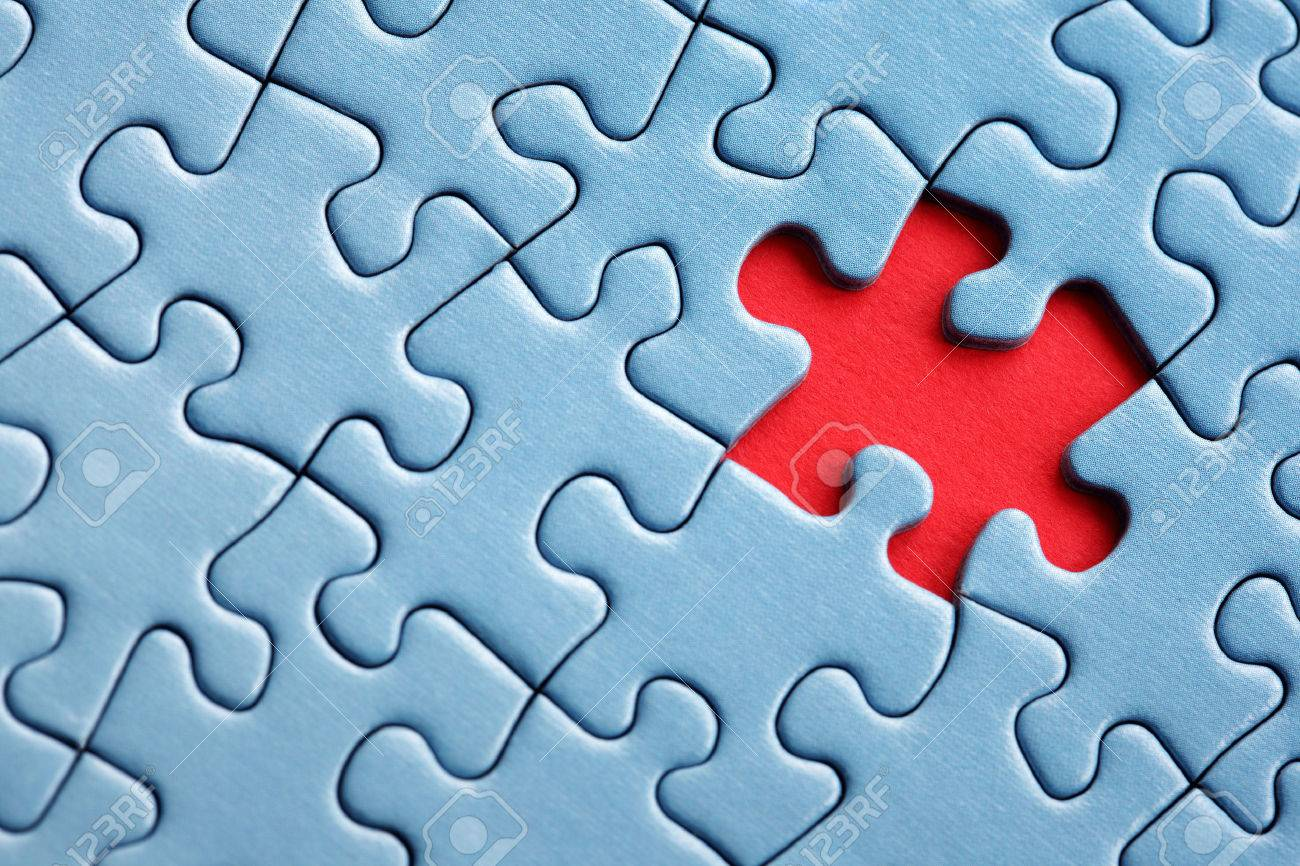 The Last Missing Piece Of Jigsaw Puzzle Concept For Solution Stock