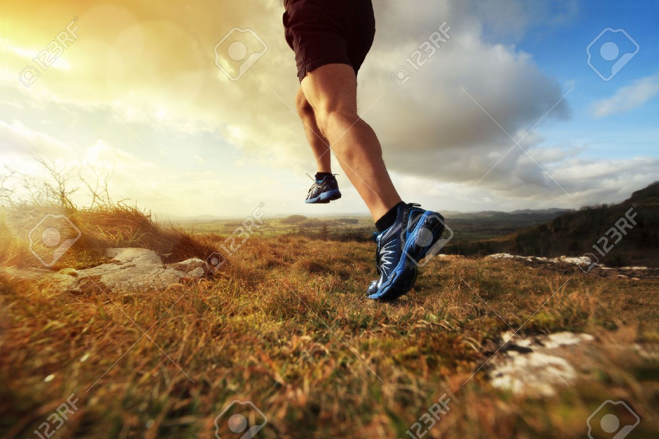 Outdoor cross-country running in early sunrise concept for exercising, fitness and healthy lifestyle Stock Photo - 27252201