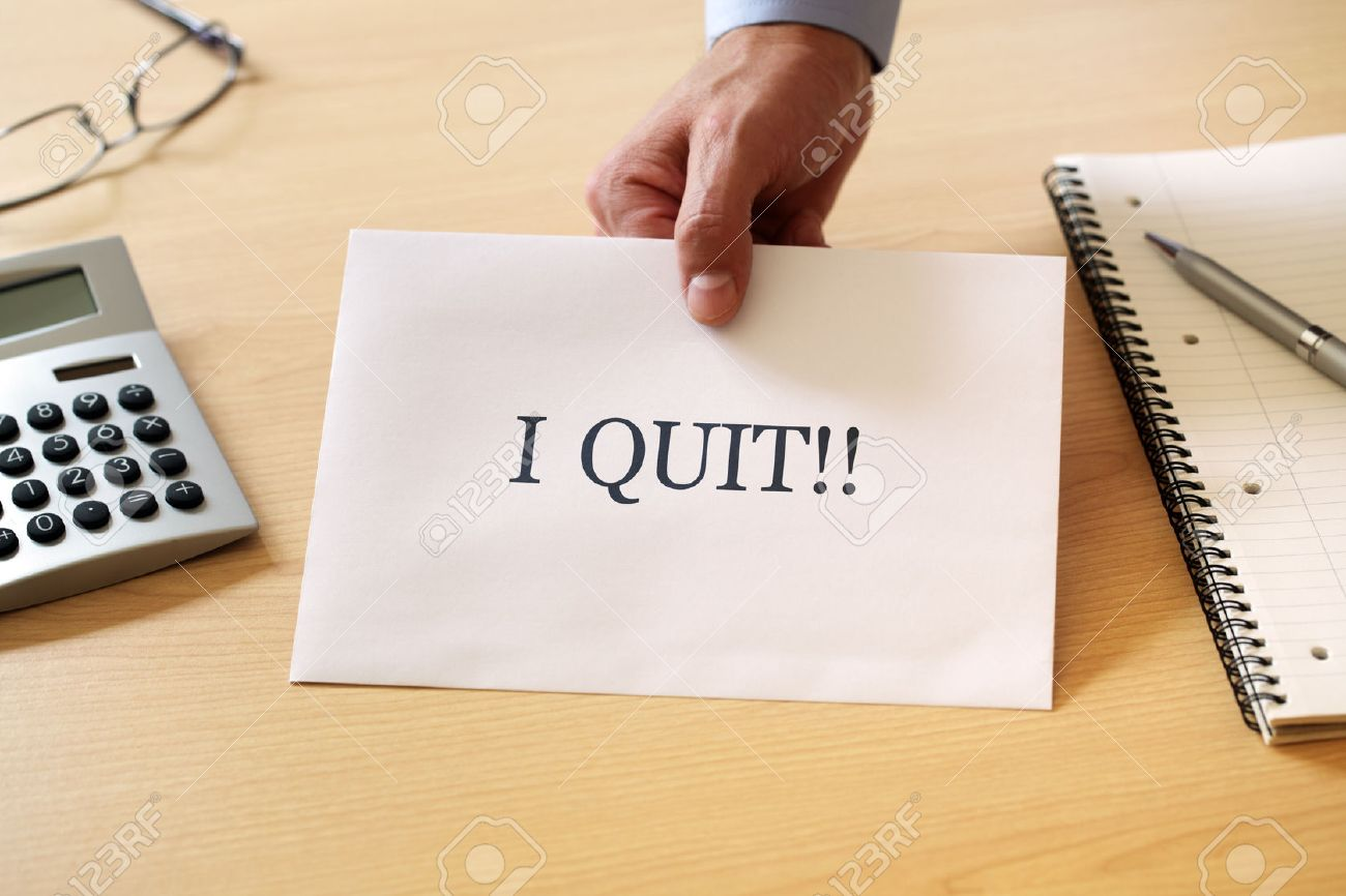 leaving job images stock pictures royalty leaving job leaving job resignation letter being placed on the desk of the boss stock photo