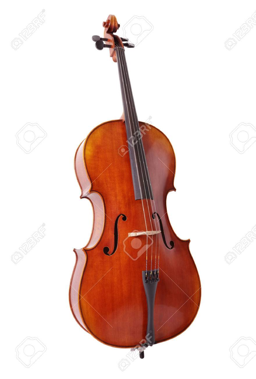 Cello isolated on white background for music, lessons and education concepts - 54427789