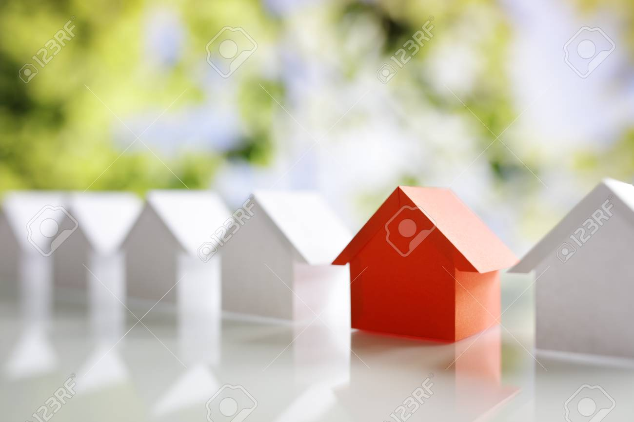 Choosing the right real estate property, house or new home in a housing development or community - 93011531