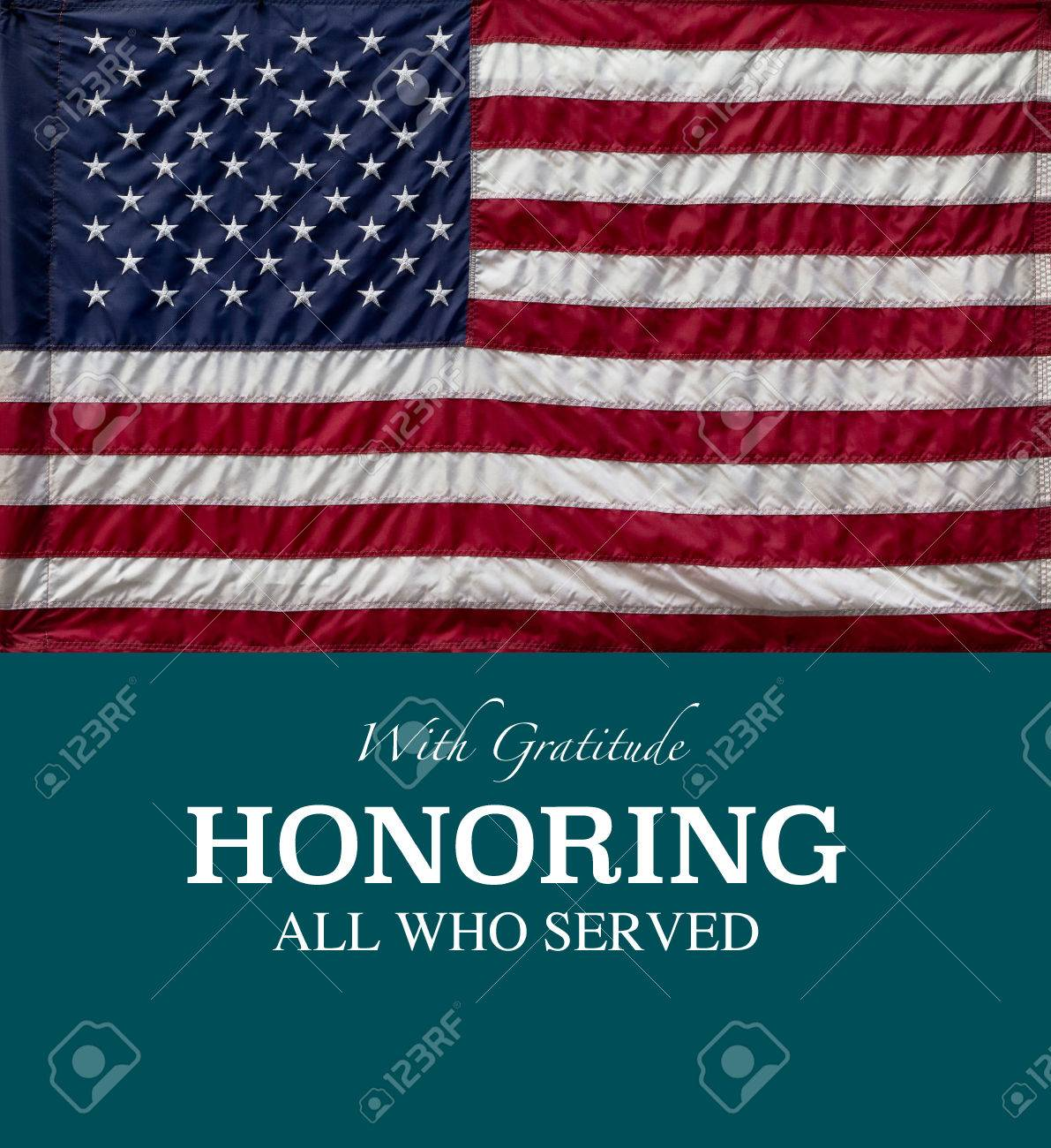 Thank You Military Veterans For Your Service Stock Photo Picture