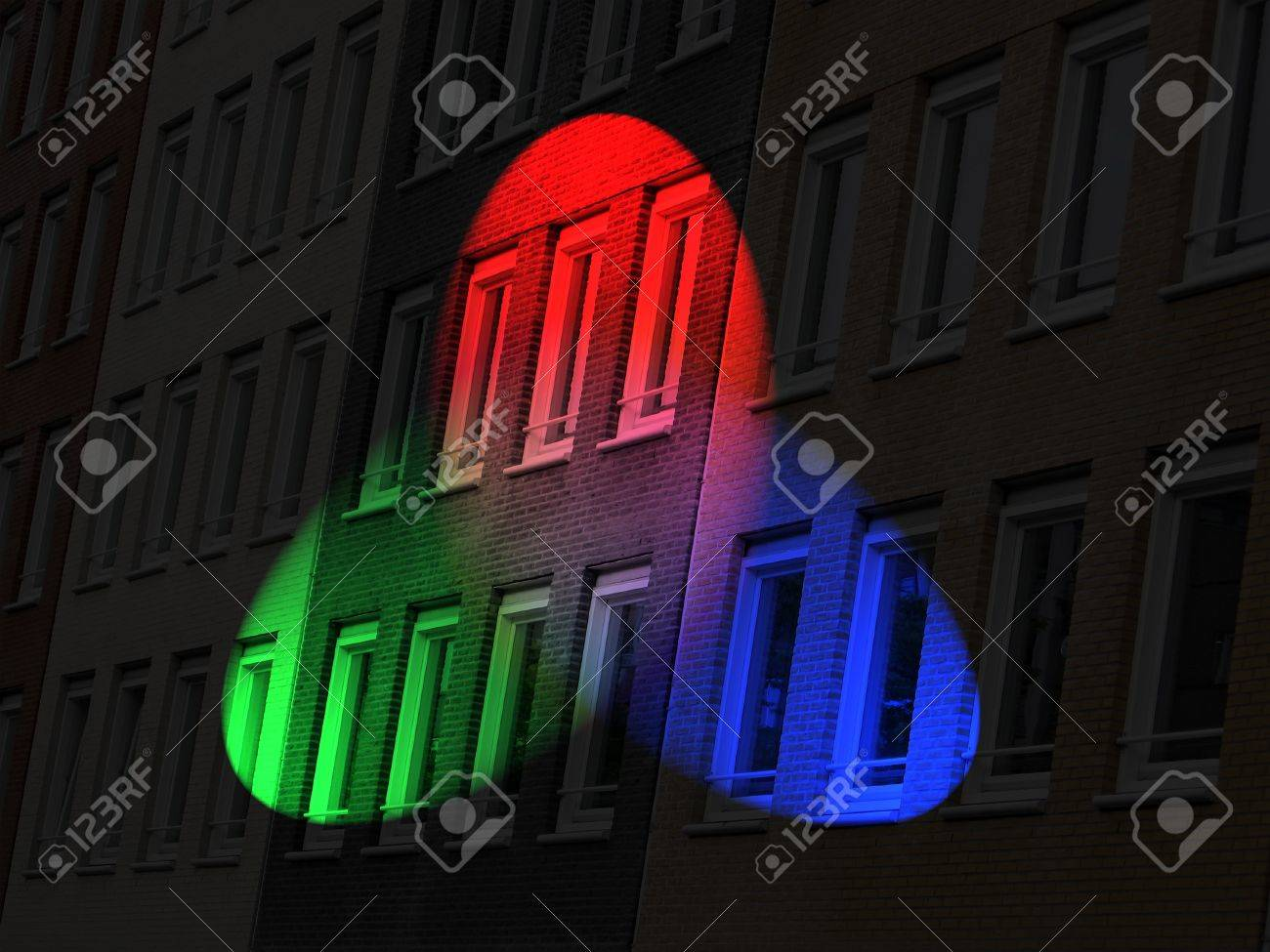 color diversity brick lighting, disco concept Stock Photo - 10923402