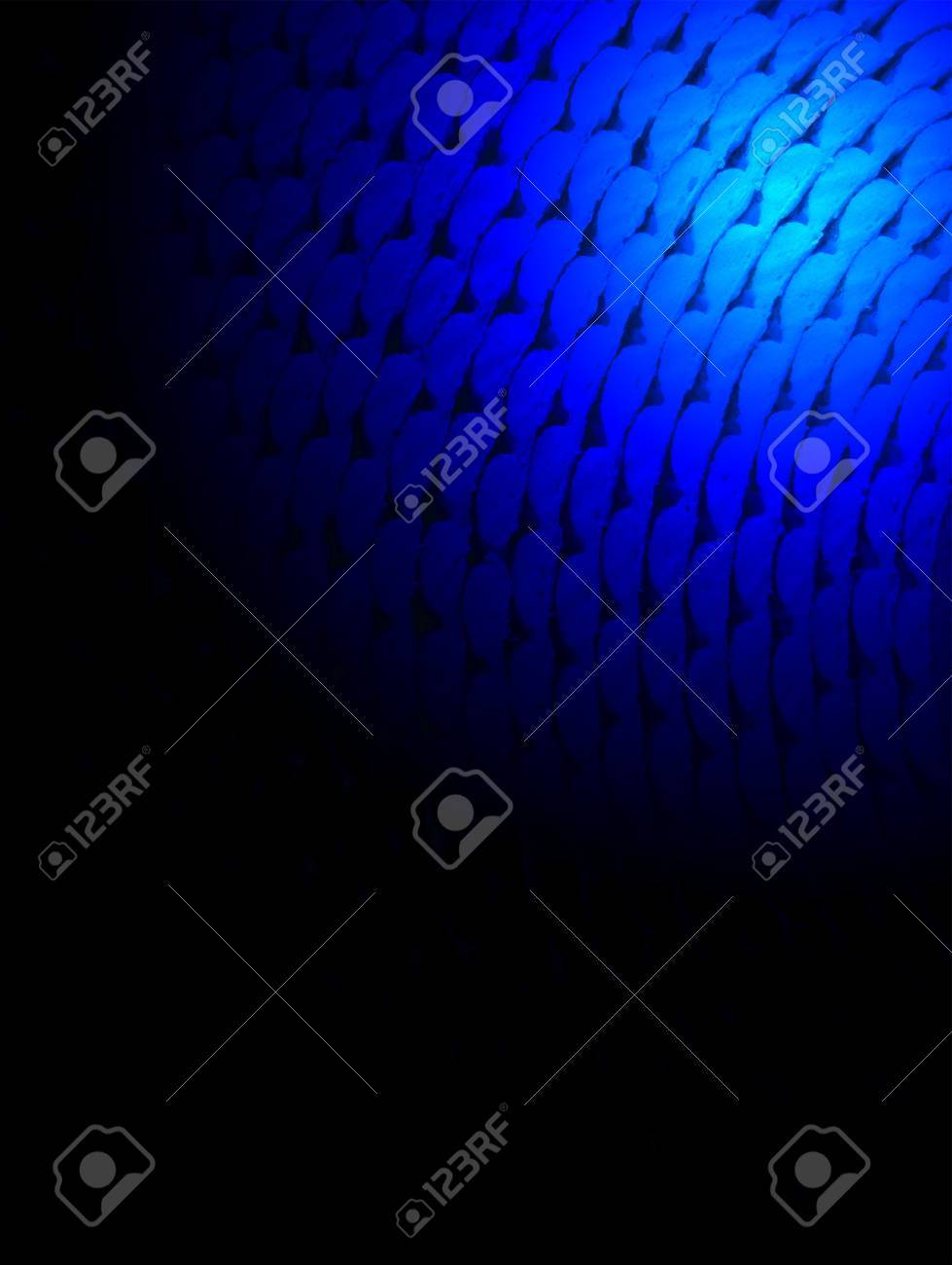 abstract blue light over roll surface, spiritual porous material closeup Stock Photo - 12370612