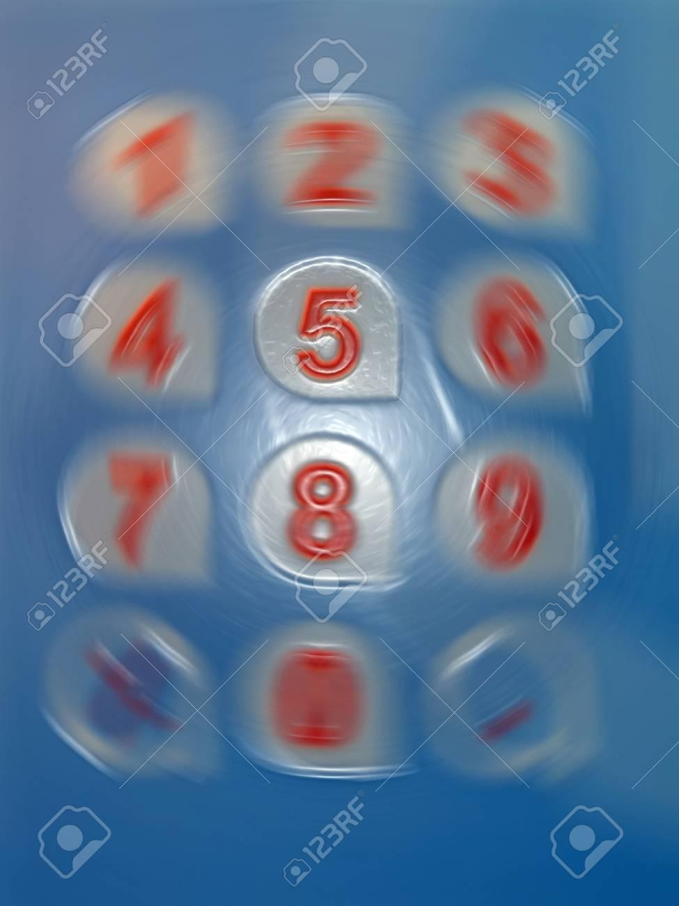 five number rotation, modern digital hurricane details Stock Photo - 12370831