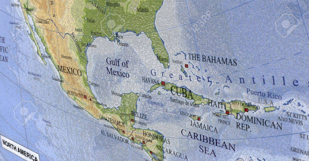 Map Usa Mexico Canada Greenland Usa Canada Mexico Johnston - Cuba and usa map