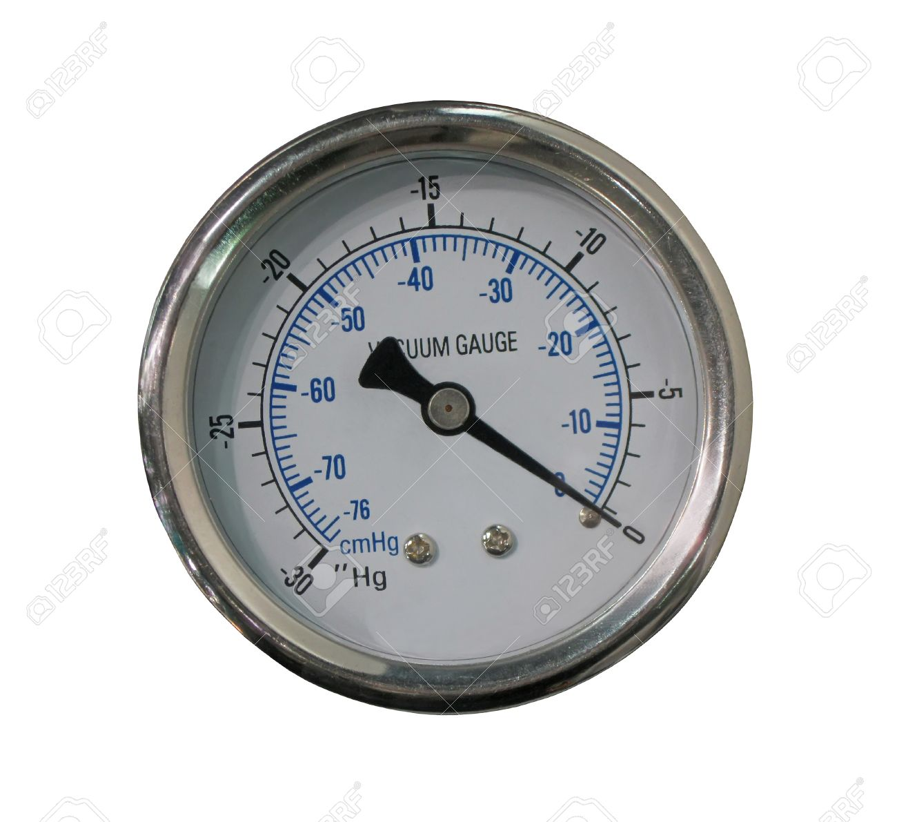 One Measurement Equipment Vacuum Gauge Isolated On White Background Test Concept Stock