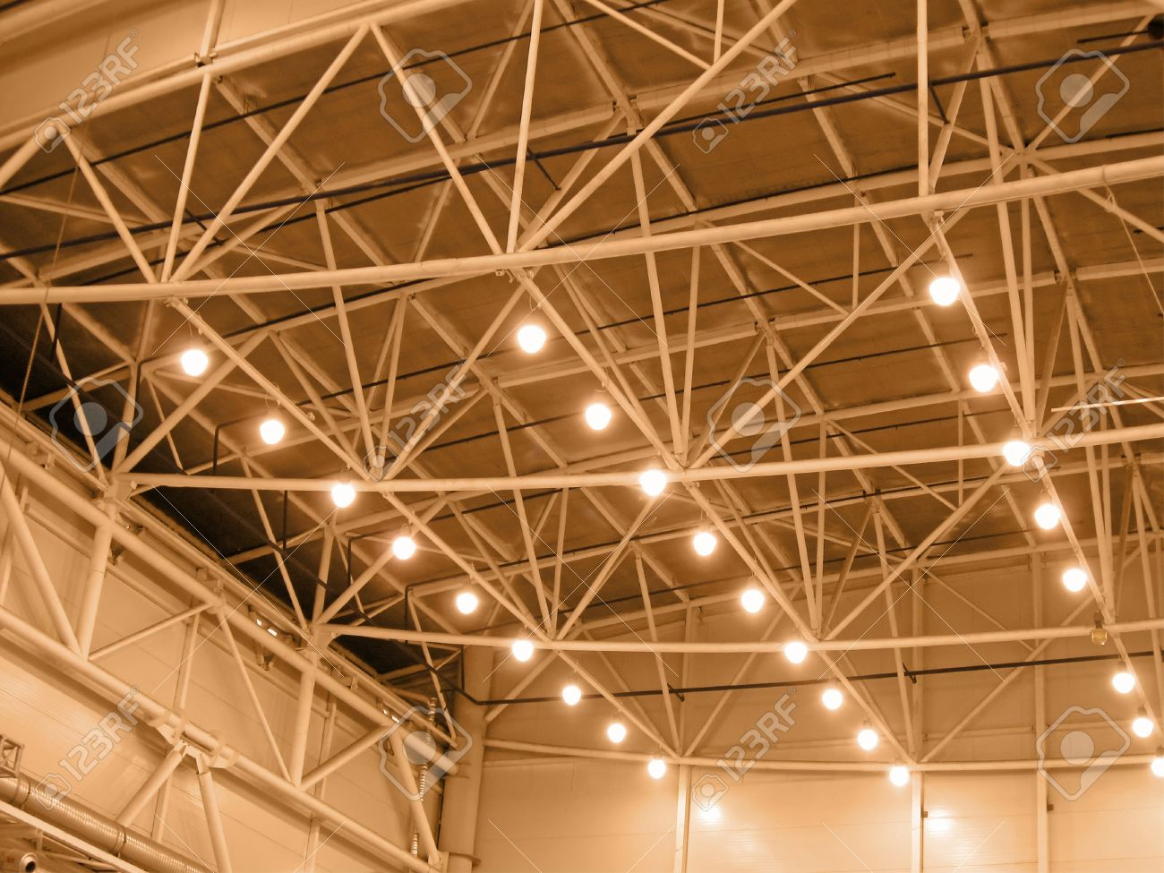 interior yellow color warehouse construction lighting kyoto stock