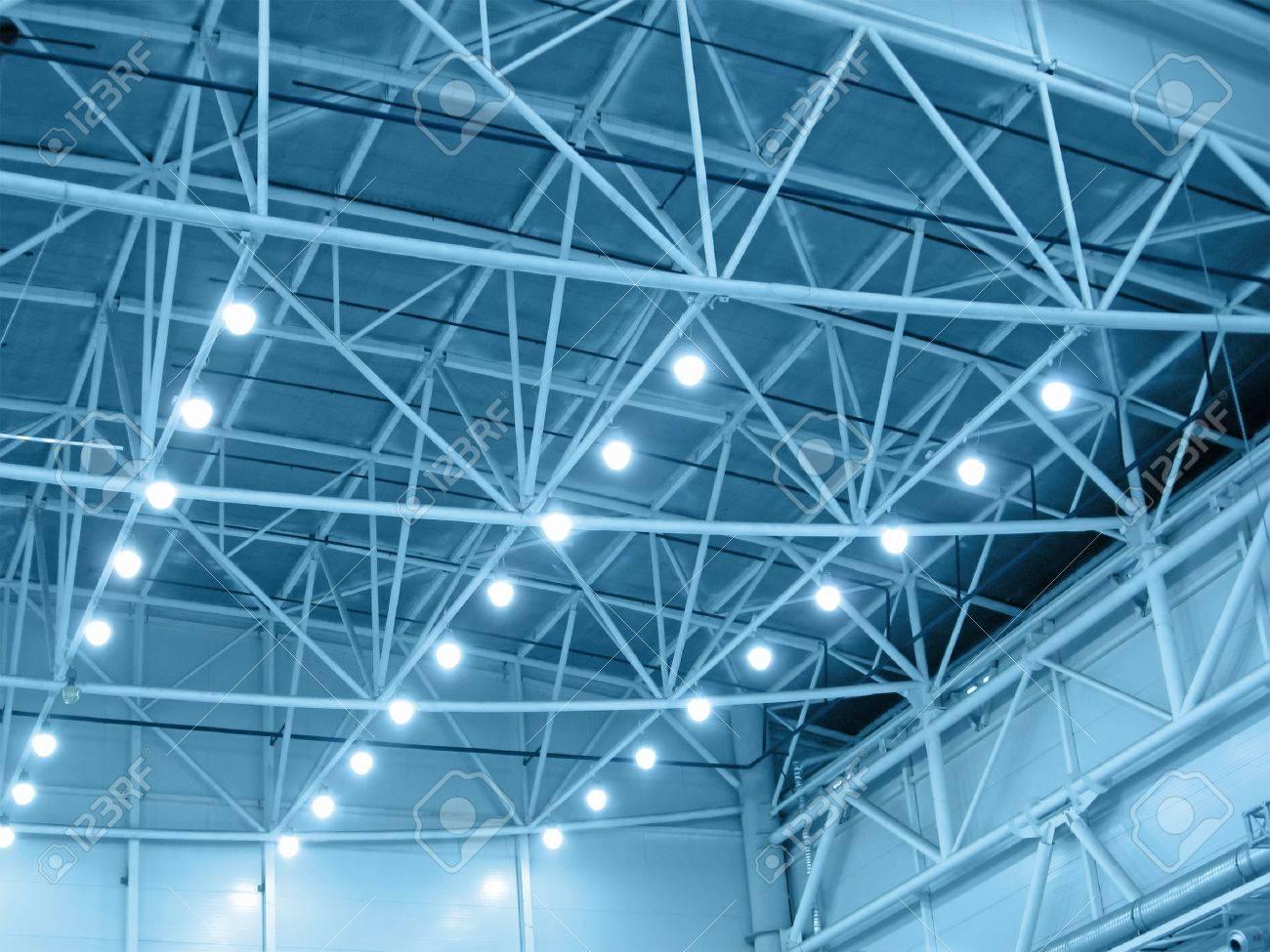 Interieur Bleu Eclairage De L Entrepot Industrielle Illumination De