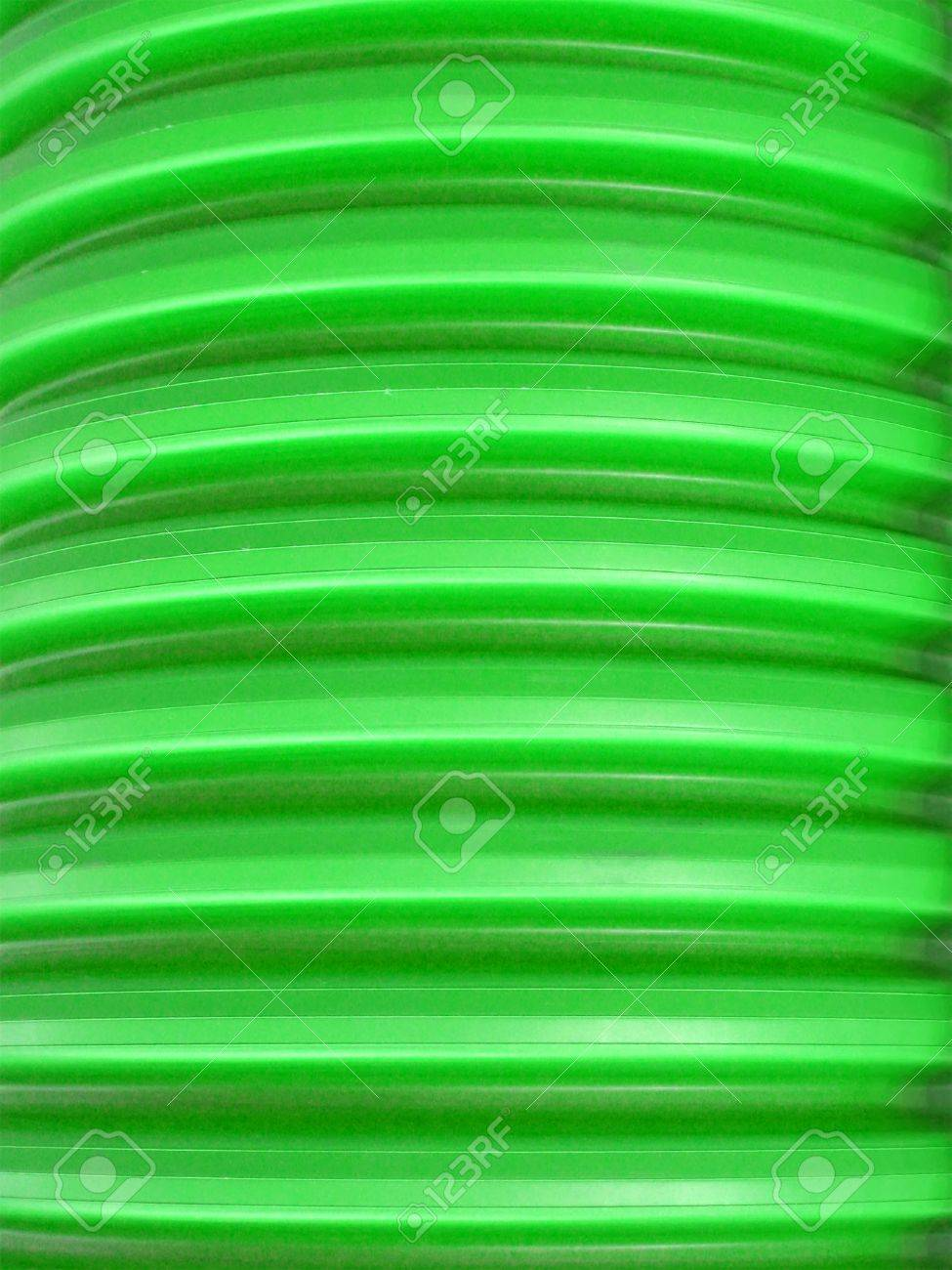 Abstract Green Large Plastic Rings Cable Part, Industrial Curves ...