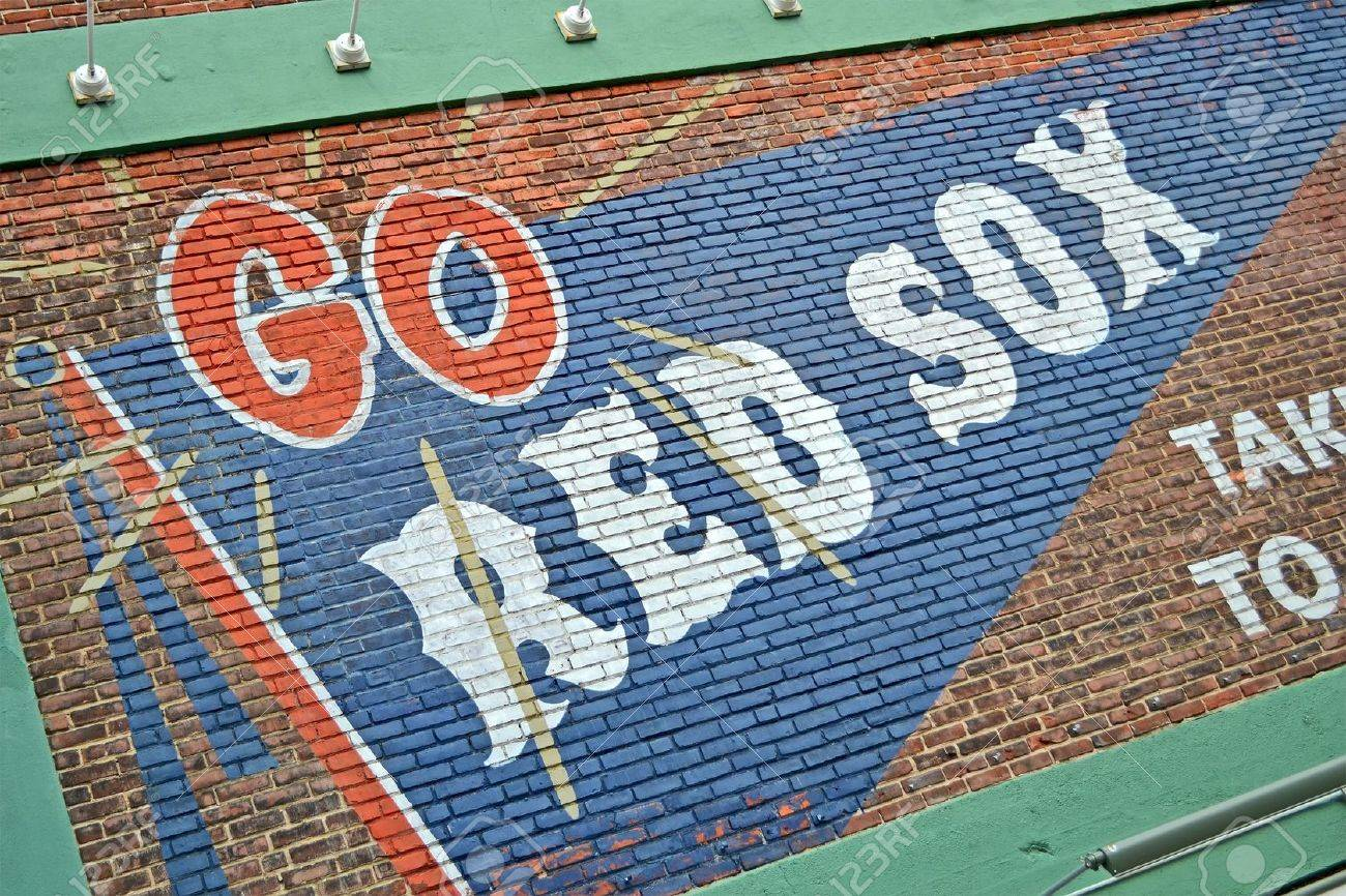 BOSTON - APR 20: Fenway Park on April 20, 2013 in Boston, USA. Fenway Park is the oldest professional sports venue in the United States celebrating its 101th anniversary since its foundation.  Stock Photo - 19388762