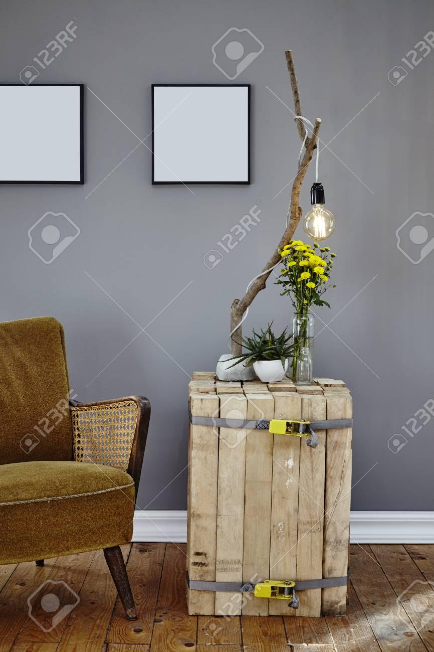 innenarchitektur wohnzimmer einzigartige seite und tisch in der atmosphare standard bild 83726248