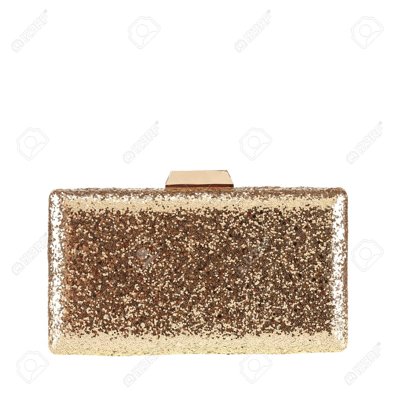 7dd84878 Gold female clutch, Gold clutch. Women's bag isolated white background.Bag  isolated white