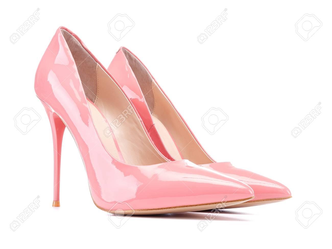 Pastel Pink Patent High Heel Women