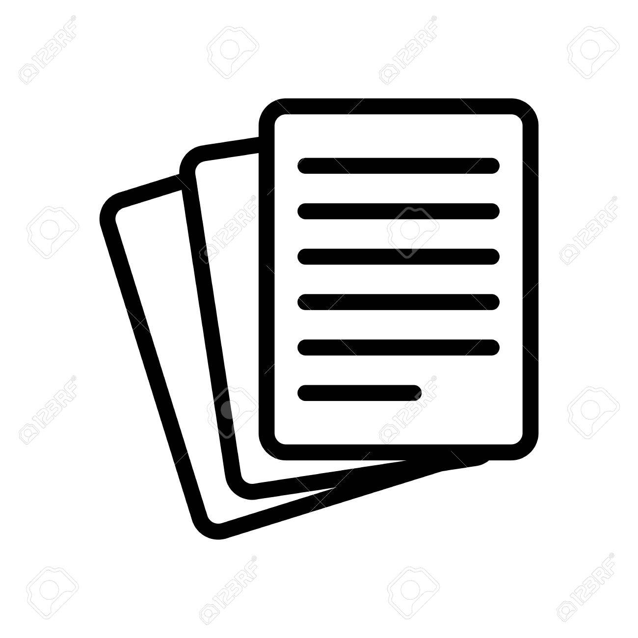 stack of paper icon royalty free cliparts, vectors, and stock