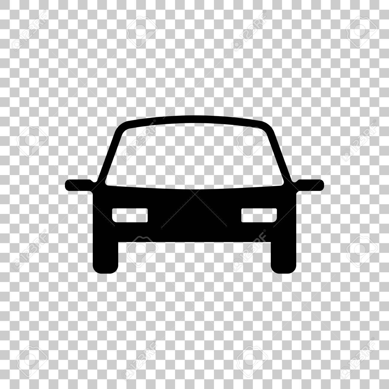 Car Icon Black On Transparent Background Stock Vector
