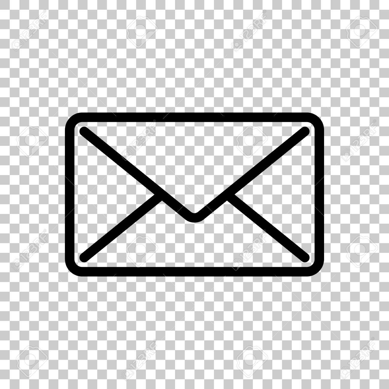 mail close icon black icon on transparent background royalty free