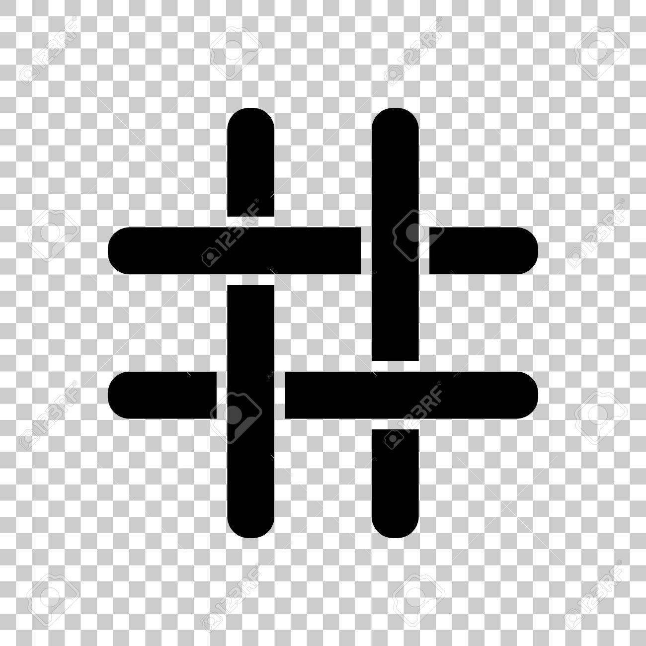 hashtag icon black icon on transparent background royalty free