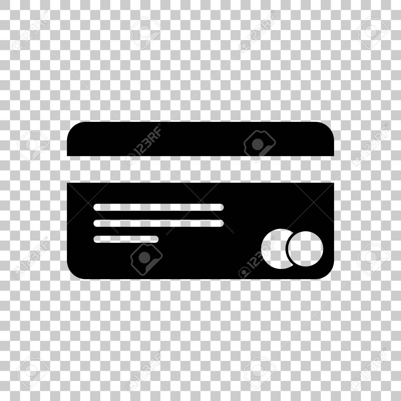 plastic credit card icon black icon on transparent background
