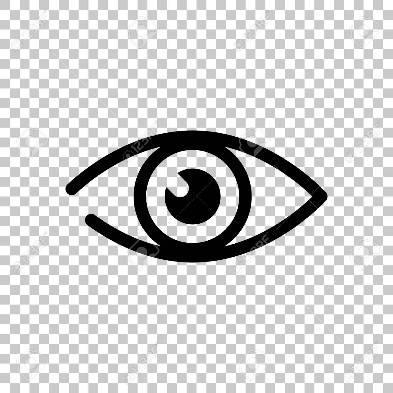Simple Eye Icon On Transparent Background Royalty Free Cliparts Vectors And Stock Illustration Image 96765966