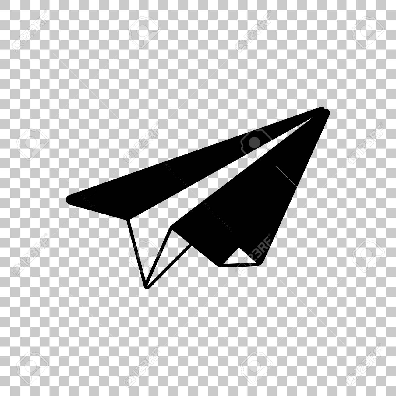 Transparent Background Paper Airplane Vector