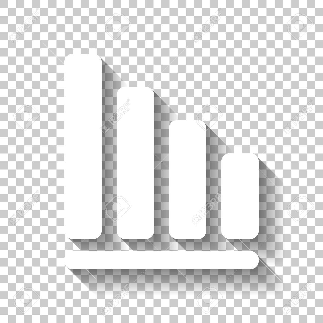 Line Graph Icon White