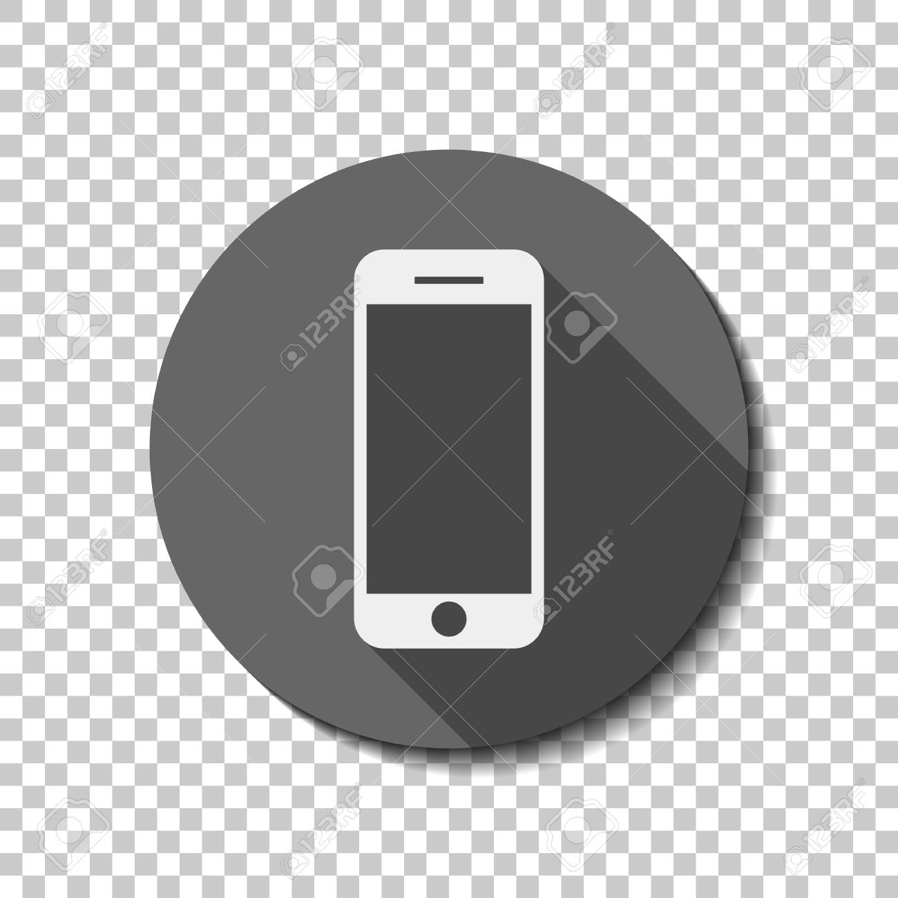 Mobile Icon Black White