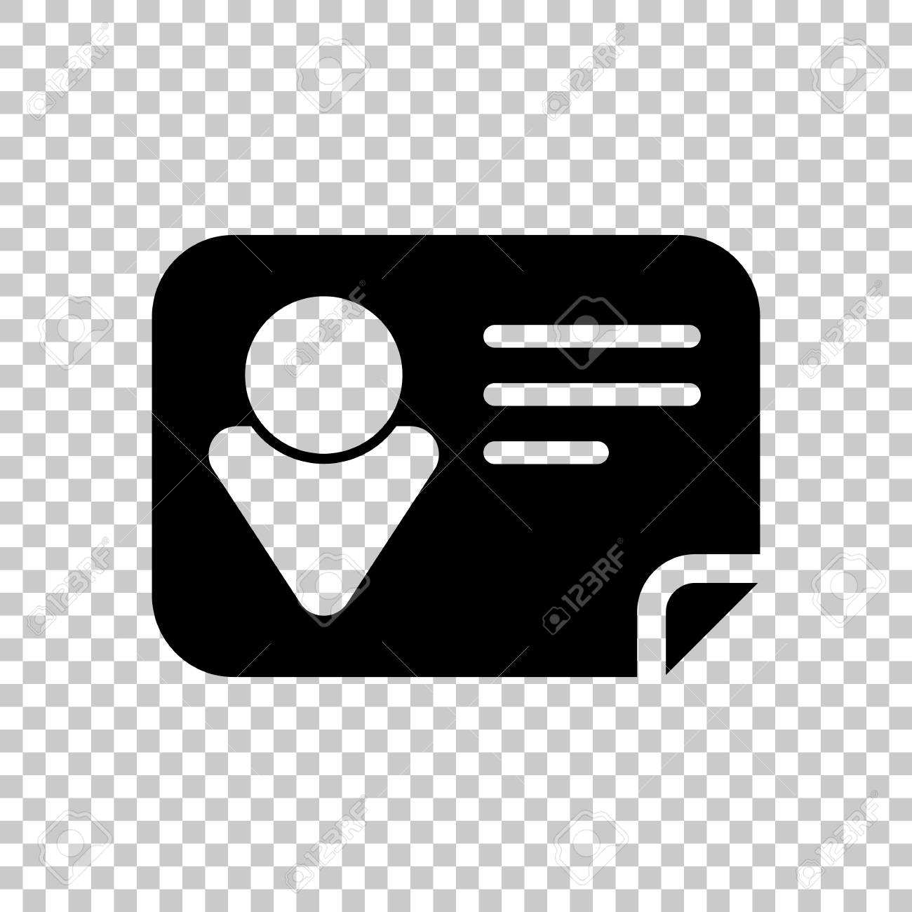identification card icon on transparent background royalty free cliparts vectors and stock illustration image 101169476 123rf com