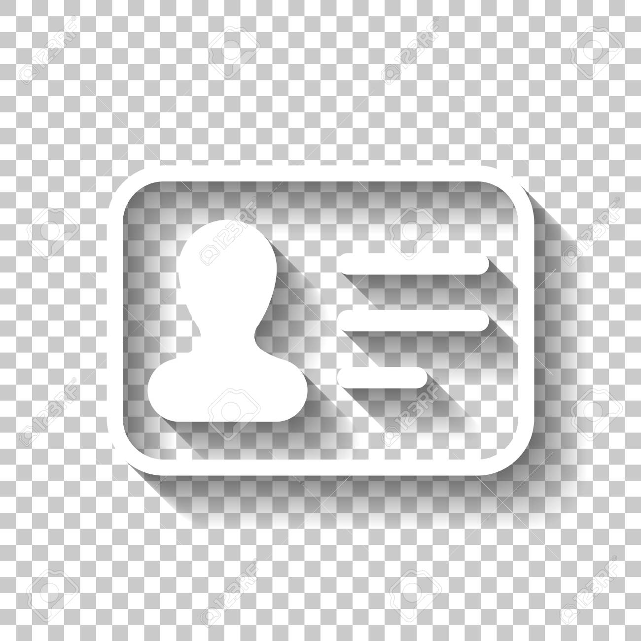 identification card icon id profile white icon with shadow royalty free cliparts vectors and stock illustration image 103145090 123rf com