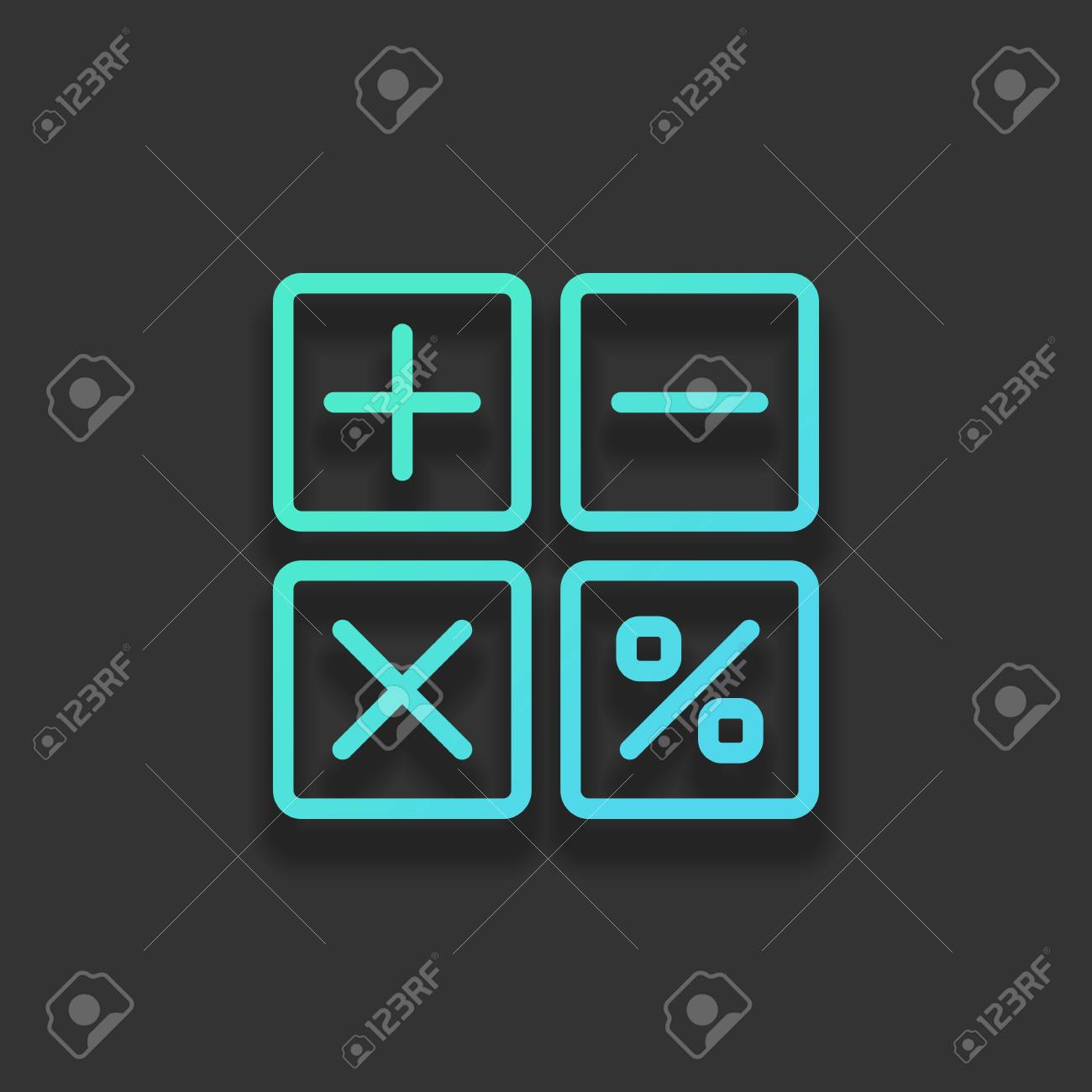 simple icon of calculator  Colorful logo concept with soft shadow