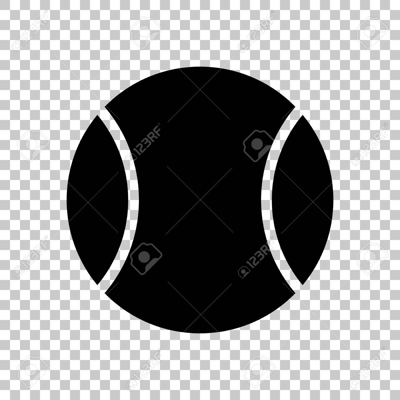 Tennis Ball Sport Game Simple Icon Black Symbol On Transparent Royalty Free Cliparts Vectors And Stock Illustration Image 115138184