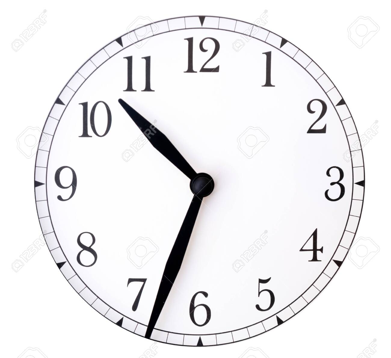 photo relating to Printable Clock Face With Hands titled clock deal with and arms upon white heritage/ Blank clock confront with..
