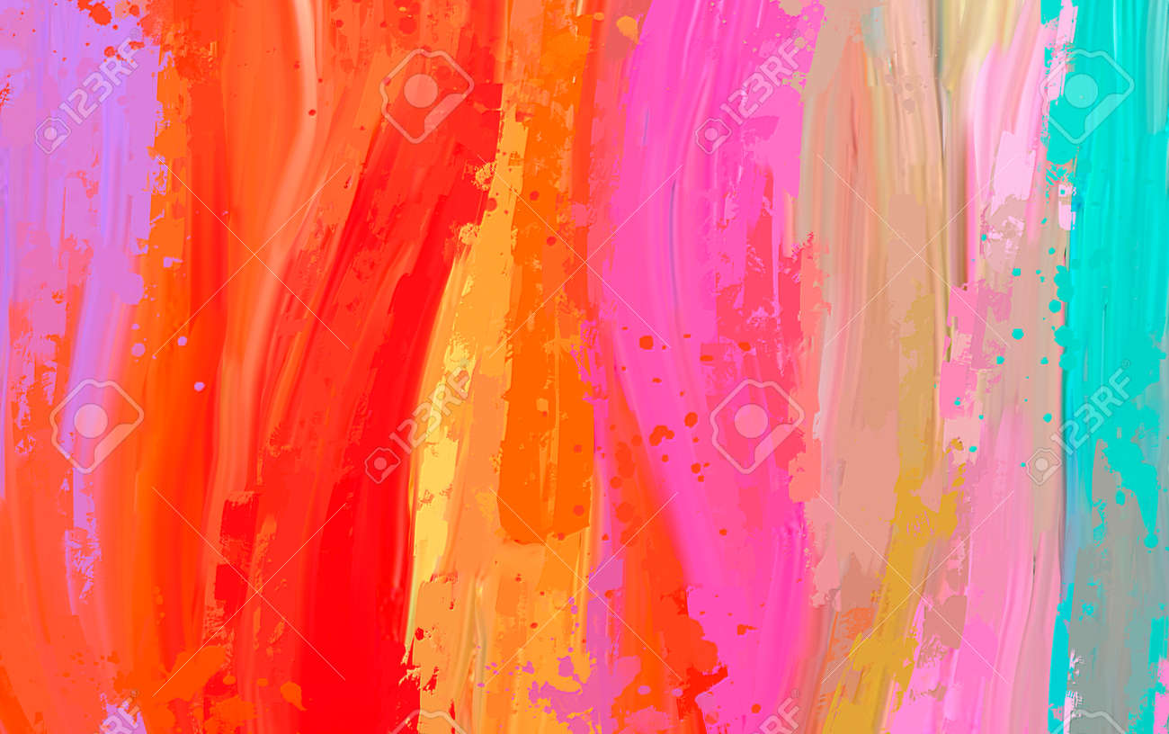 bright Abstract watercolor drawing on a paper image - 167022234