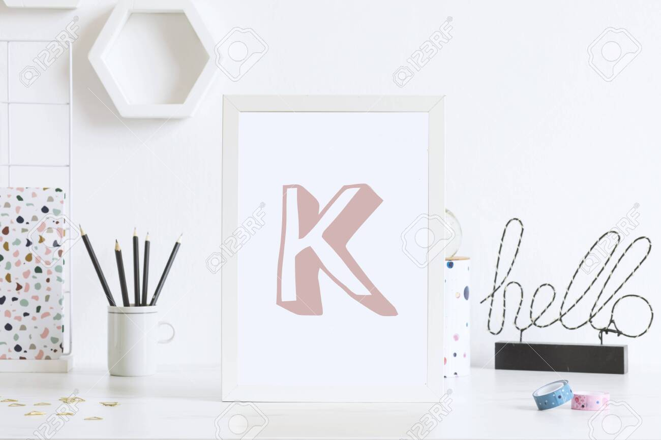 Image of: Modern And Stylish Home Interior With White Mock Up Poster Frame Stock Photo Picture And Royalty Free Image Image 126277438