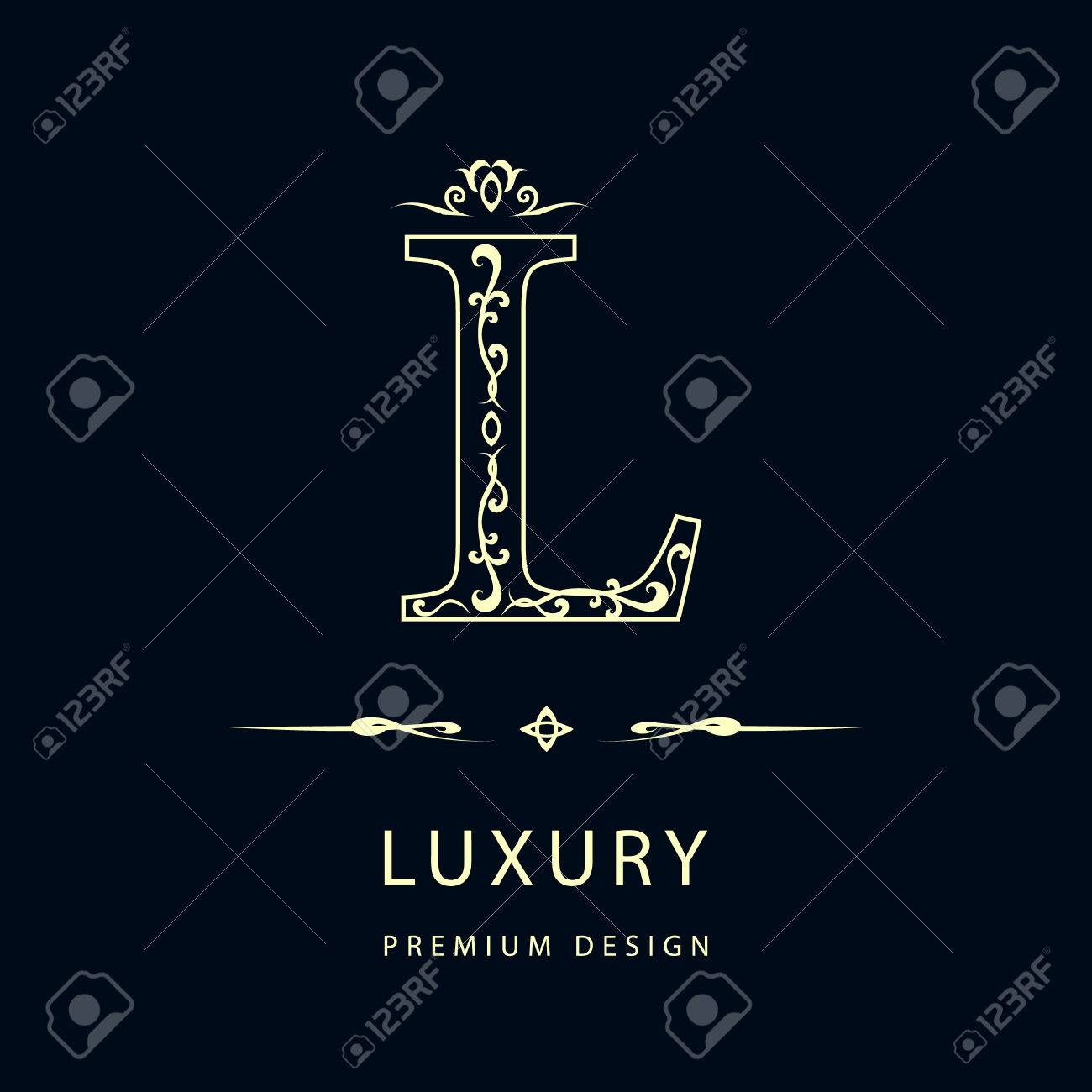Letter l stock photos royalty free business images simple and graceful floral monogram design template elegant line art logo design letter l biocorpaavc Choice Image