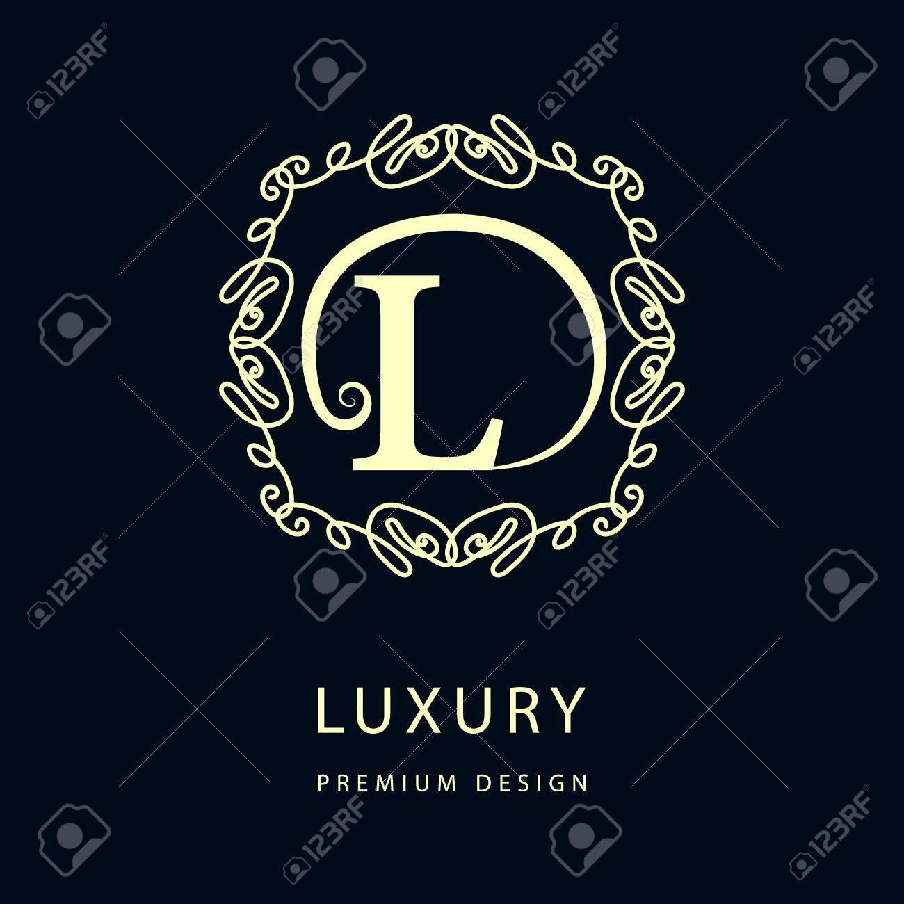 Tj initial luxury ornament monogram logo stock vector - L Floral Simple And Graceful Floral Monogram Design Template Elegant Line Art Logo Design