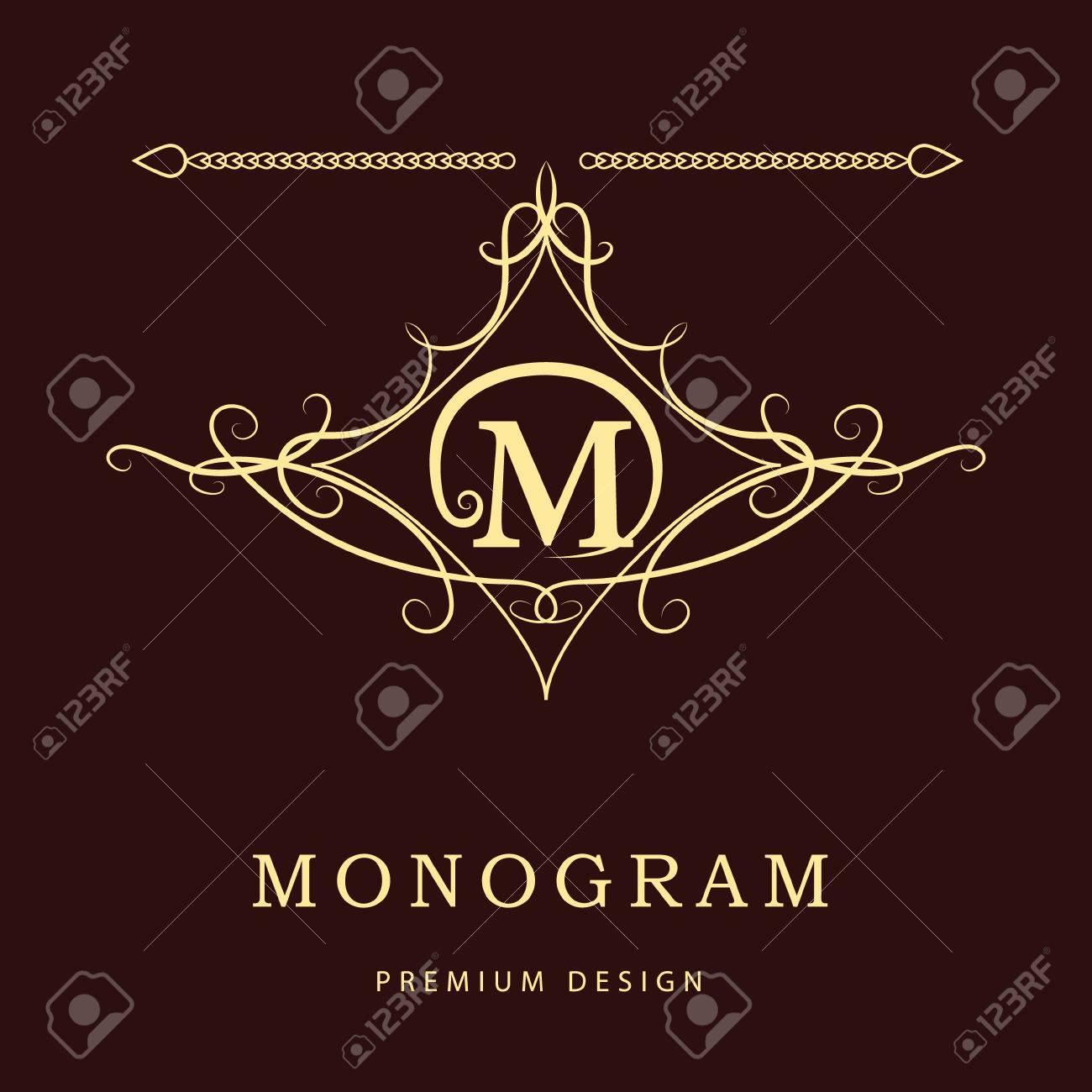 Tj initial luxury ornament monogram logo stock vector - Vintage Monogram M Monogram Design Elements Graceful Template Elegant Line Art Icon Design