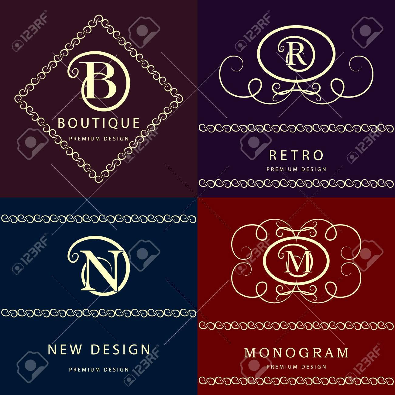 Tj initial luxury ornament monogram logo stock vector - M Monogram Vector Illustration Of Monogram Design Elements Graceful Template Elegant Line Art
