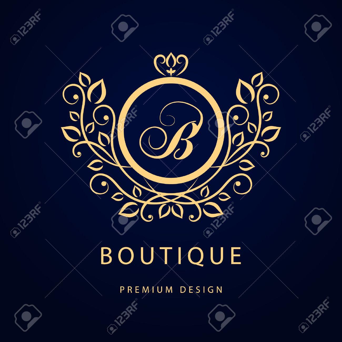Vector graphic design business logo - Vector Vector Illustration Of Monogram Design Elements Graceful Template Elegant Line Art Logo Design Business Sign Identity For Restaurant Royalty