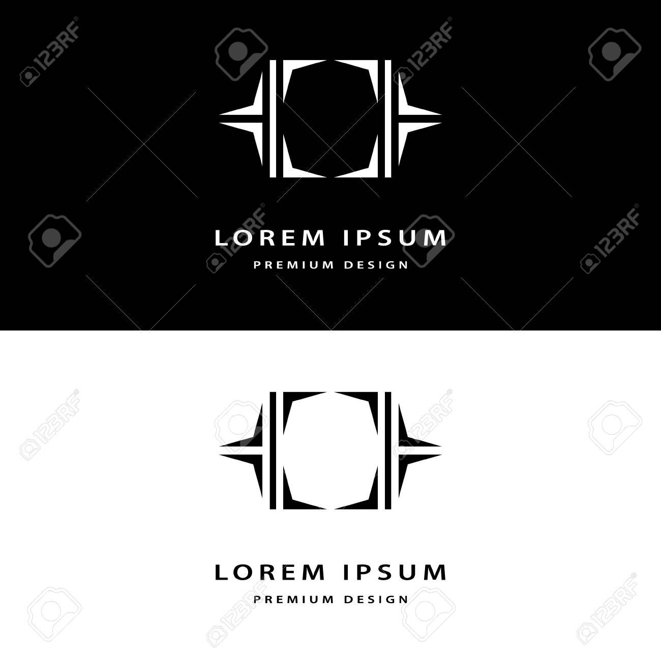Elementos Creativos De Diseño Icono Monograma Con La Tarjeta De ...