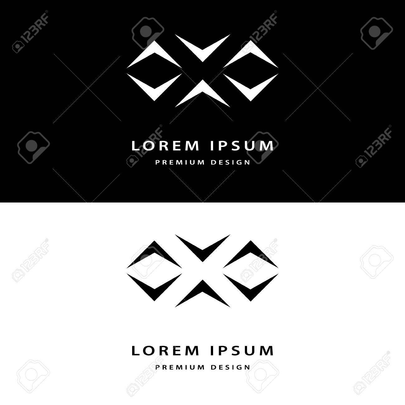 Les Lments Cratifs De Conception Icne Monogramme Avec Cartes Visite Professionnelles Gracieuse Lart La Ligne Lgante Logo