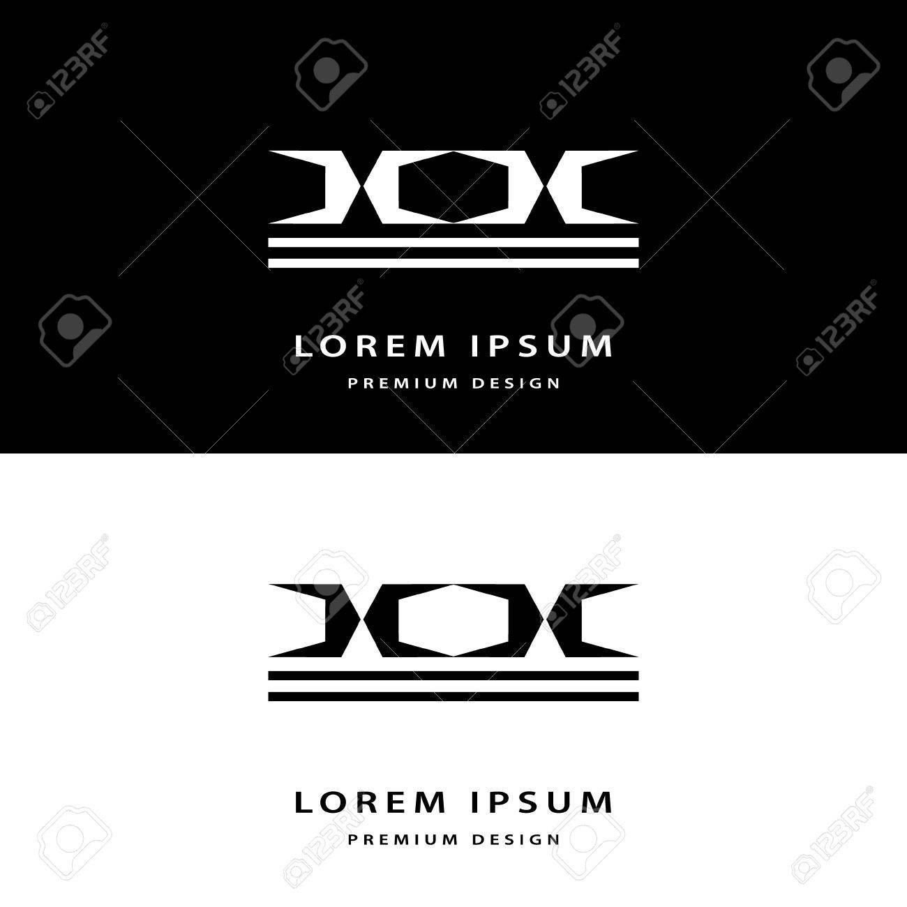 Creative Icon Monogram Design Elements With Business Card Graceful ...