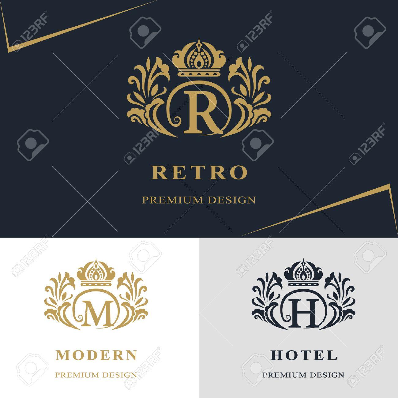 Boutique Design En Ligne vector illustration de la conception monogram éléments, modèle