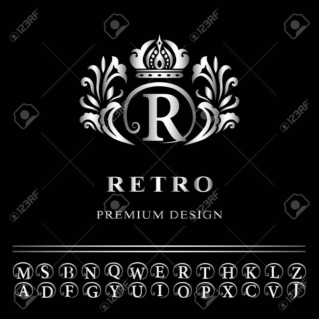Vector illustration of monogram design elements graceful template vector illustration of monogram design elements graceful template elegant line art logo design pronofoot35fo Images