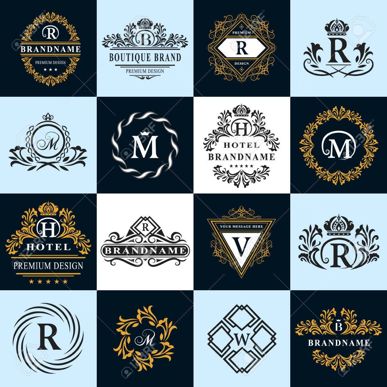 Vector graphic design business logo - Vector Illustration Of Monogram Design Elements Graceful Template Calligraphic Elegant Line Art Logo Design