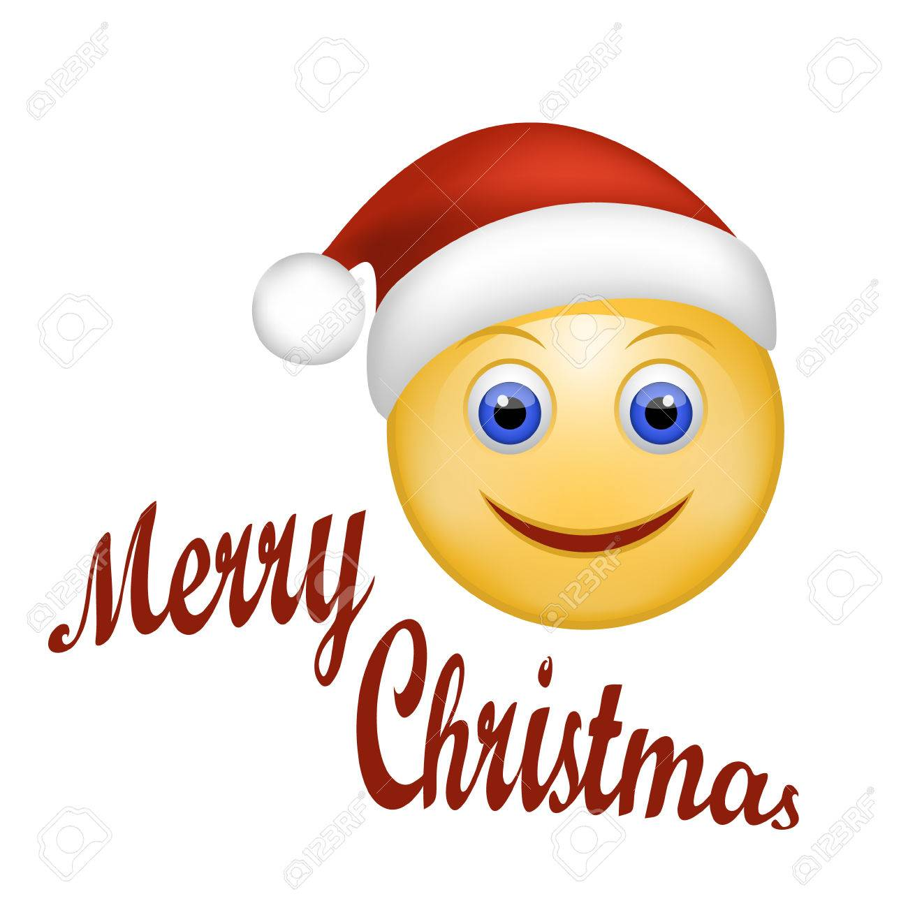 1 174 smiley face cartoon christmas stock vector illustration and rh 123rf com Yummy Smiley Face Clip Art Santa Smiley Face Clip Art
