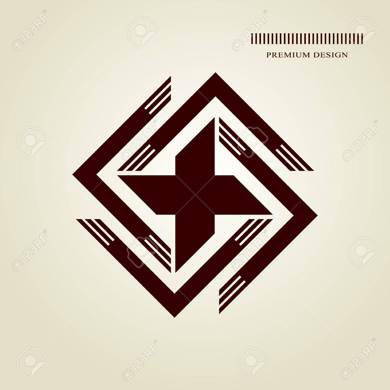 Swastika stock photos royalty free business images geometric monogram abstract swastika in trendy style monochrome emblem hipster minimal design elements biocorpaavc Gallery