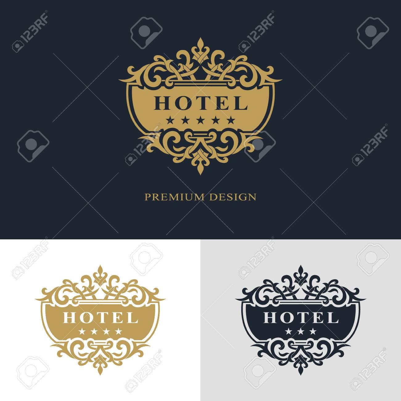 Calligraphique Lgant Art De La Ligne Conception Logo Lettre Signe Lemblme Royaut Carte Visite Boutique Htel Hraldique Bijoux